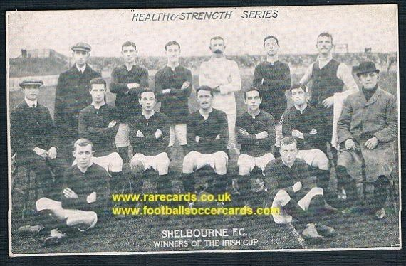 1911 Shelbourne FC Dublin Health & Strength series Havelock Square postcard